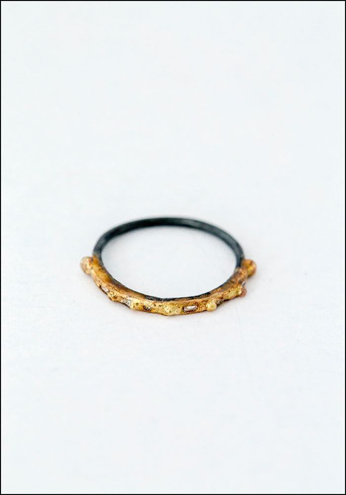 Variance Objects Baguette Diamond Skinny Band Ring