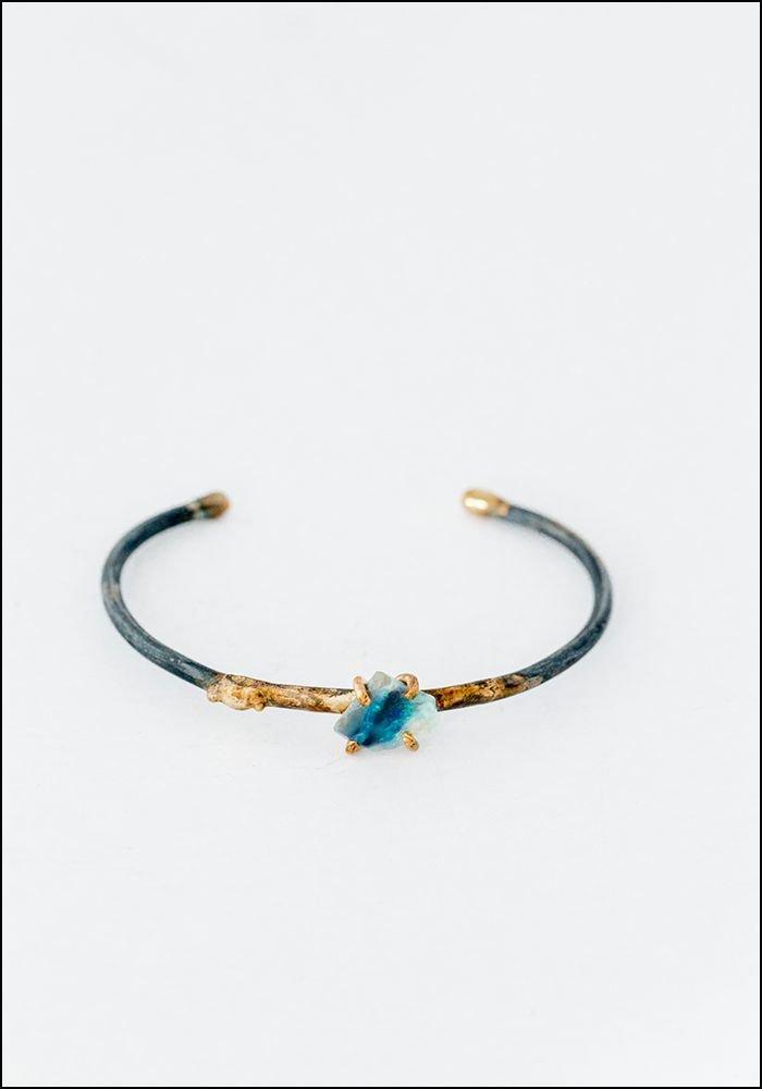 Variance Objects Australian Opal Cuff Bracelet Azure