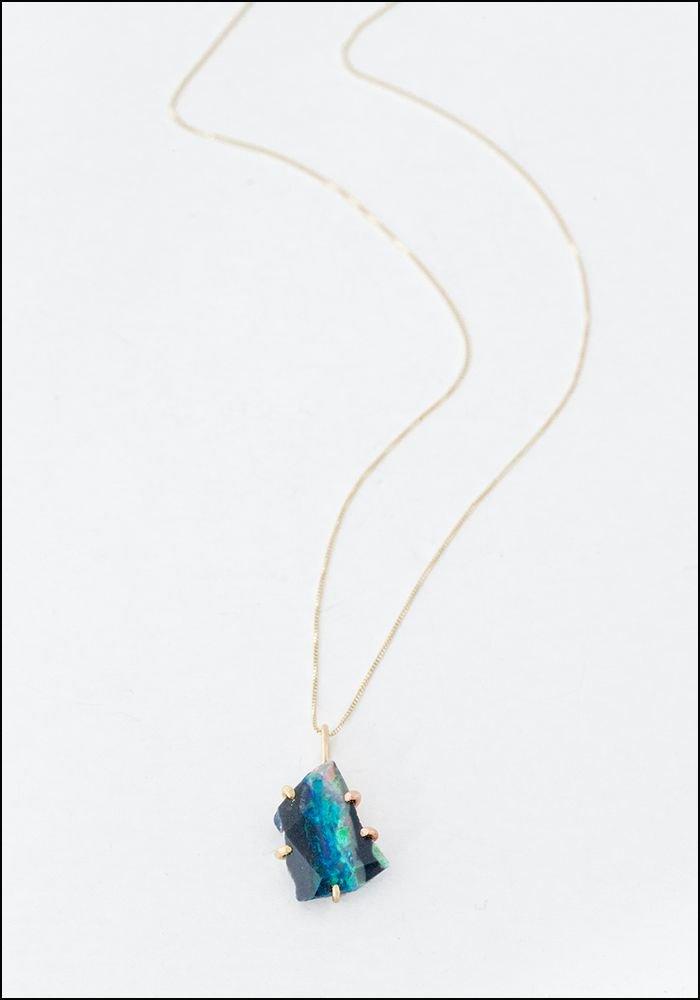 Variance Object Australian Opal and 14KT Pendant