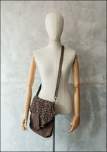 Claudio Cutuli Laser Cut Leather Crossbody Bag