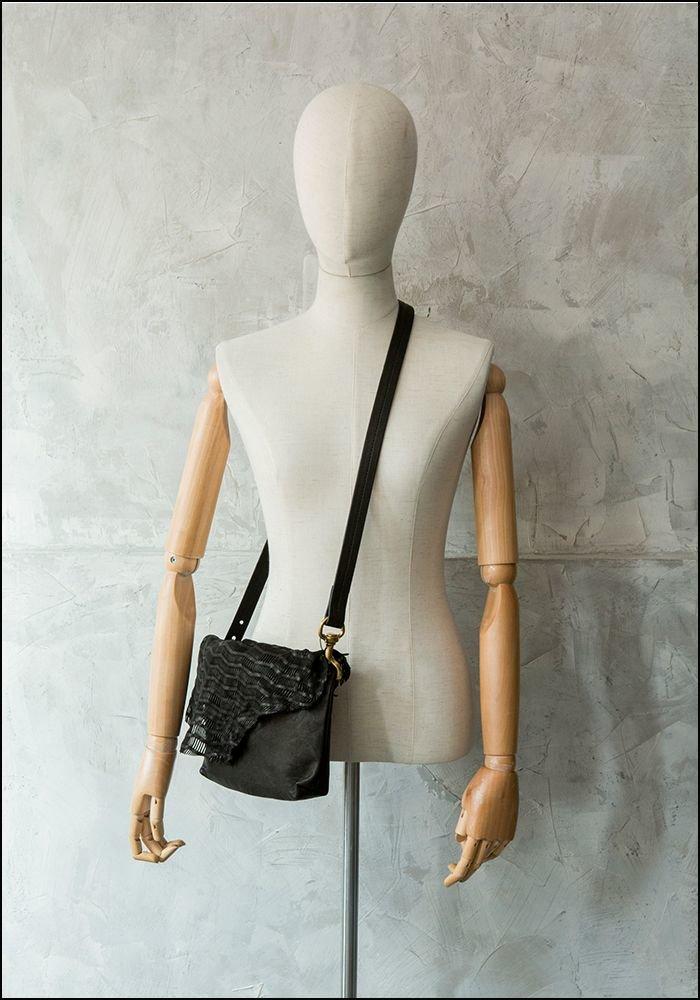 Claudio Cutuli Laser Cut Leather Handbag