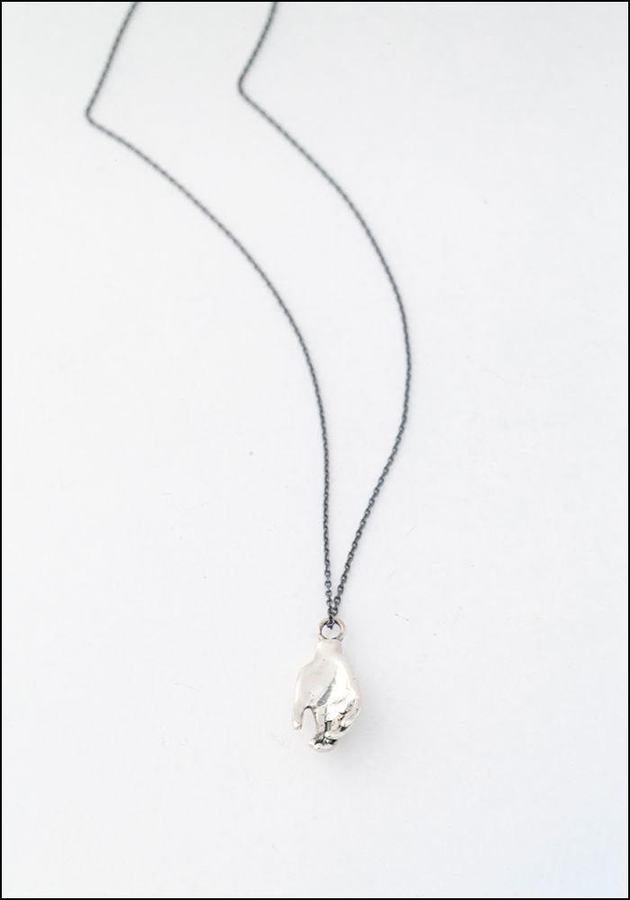 Captve Captve Silver Hand Pendant