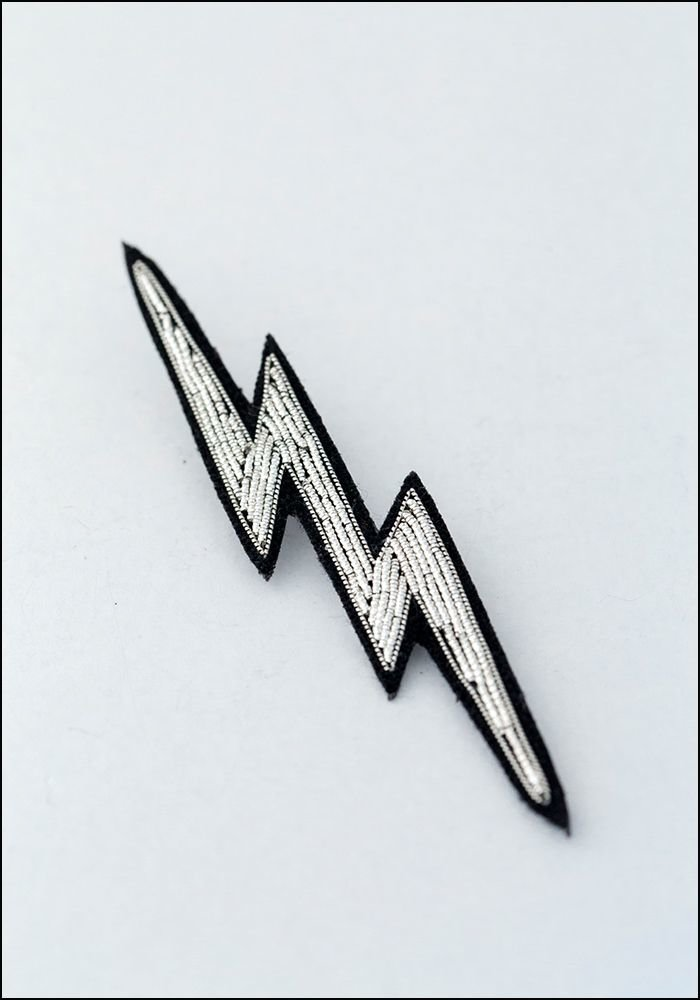 Macon and Lesquoy Lightning Embroidered Pin