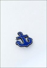 Macon and Lesquoy Small Anchor Embroidered Pin