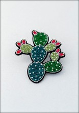 Macon and Lesquoy Prickly Pear Embroidered Pin