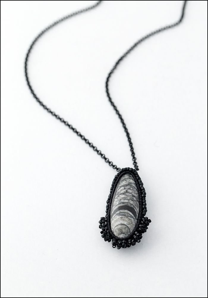 Jacki Holland Jacki Holland Orthoceras Fossil Necklace