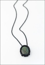 Jacki Holland Jacki Holland Raw Emerald Necklace