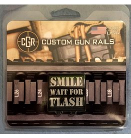 CGR CGM, Picitinny Rail bling, Smile Wait For Flash, Small
