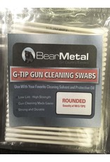 Bear Metal G-Tip gun cleaning Swabs, Rounded Swab