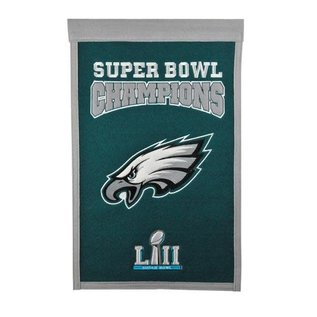 WINNING STREAK PHILADELPHIA EAGLES SUPER BOWL CHAMPS BANNER 30153PE