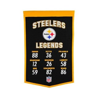 WINNING STREAK STEELERS LEGENDS BANNER 22X14