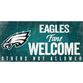 FAN CREATIONS Philadelphia Eagles Fans Welcome Sign