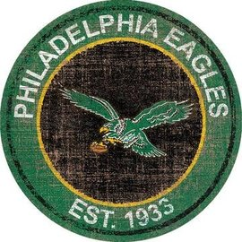 FAN CREATIONS PHILADELPHIA  EAGLES HERITAGE LOGO ROUND 0744