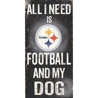 FAN CREATIONS PITTSBURGH STEELERS FOOTBALL & MY DOG SIGN