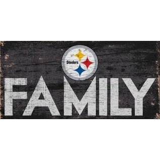 FAN CREATIONS Pittsburgh Steelers Family Sign