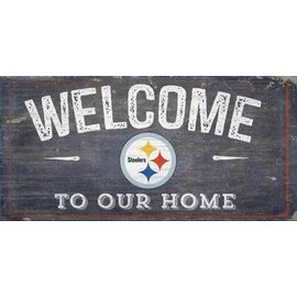 FAN CREATIONS PITTSBURGH STEELERS WELCOME DISTRESSED 6x12