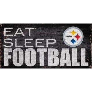 FAN CREATIONS PIttsburg Steelers EAT SLEEP FOOTBALL SIGN