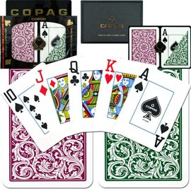 Copag Reg Copag Cards Green & Burgandy