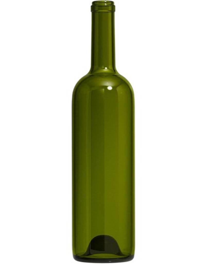 375mL Dark Green Semi-Bordeaux mid-punt bottles single