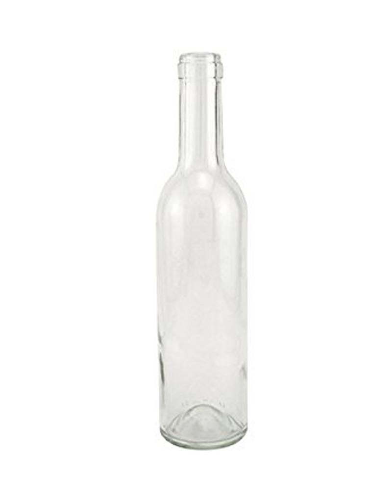 375ml Clear Flint Bottles Cork Finish Case (24)