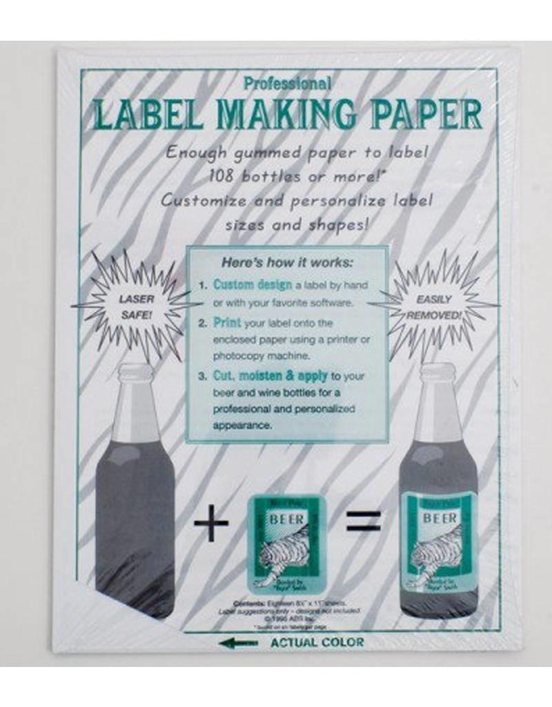 Yellow Label Paper