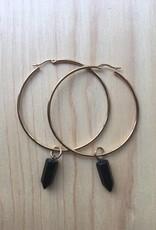 Eleventh House Jewellery Gold Hoop Gem Earrings