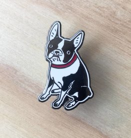 Kristina Micotti Black Boston Terrier Pin