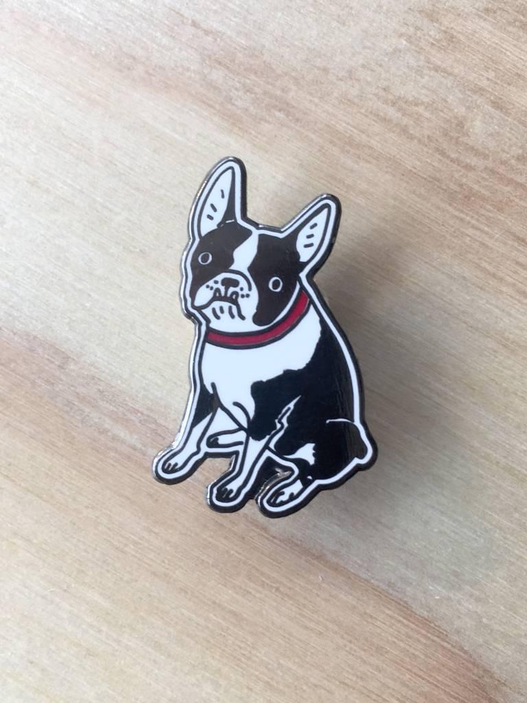 """Kristina Micotti Épinglette """"Black Boston Terrier"""""""