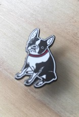 Kristina Micotti Black Boston Terrier Pin