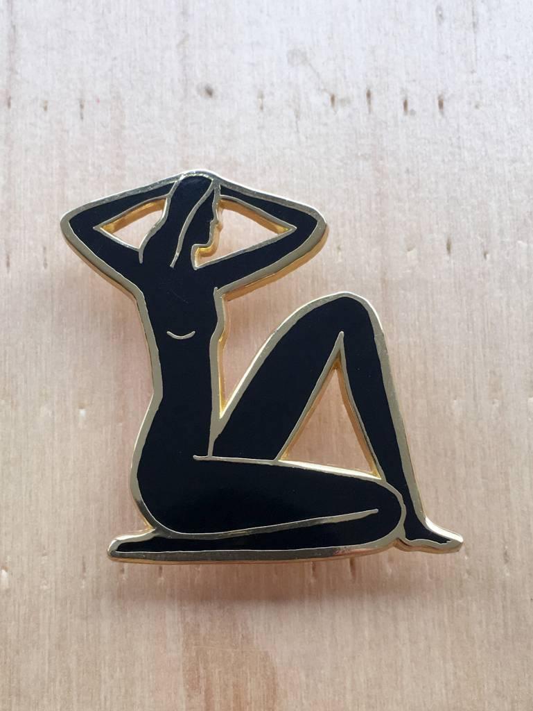 Kaye Blegvad Seated Nude Pin