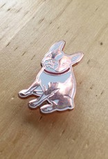 Kristina Micotti Brown Boston Terrier Pin