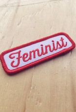 """These Are Things Appliqué """"Feminist"""" (rouge)"""