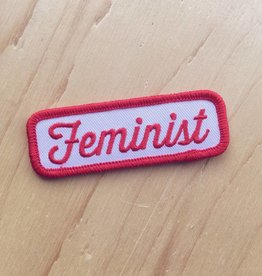 "These Are Things Appliqué ""Feminist"" (rouge)"