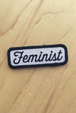 "These Are Things Appliqué ""Feminist"" (noir)"
