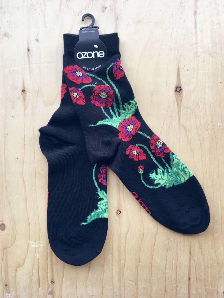 """Ozone Socks Bas """"Poppies"""""""