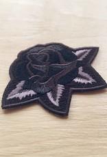Golden Gems Black Rose Patch