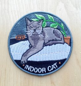 "Stay Home Club Appliqué ""Indoor Cat"""