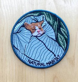 "Stay Home Club Appliqué ""Natural Habitat"" Chat"