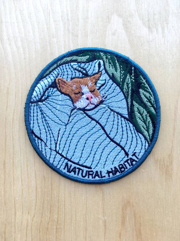 "Stay Home Club Appliqué ""Natural Habitat"" Chat"
