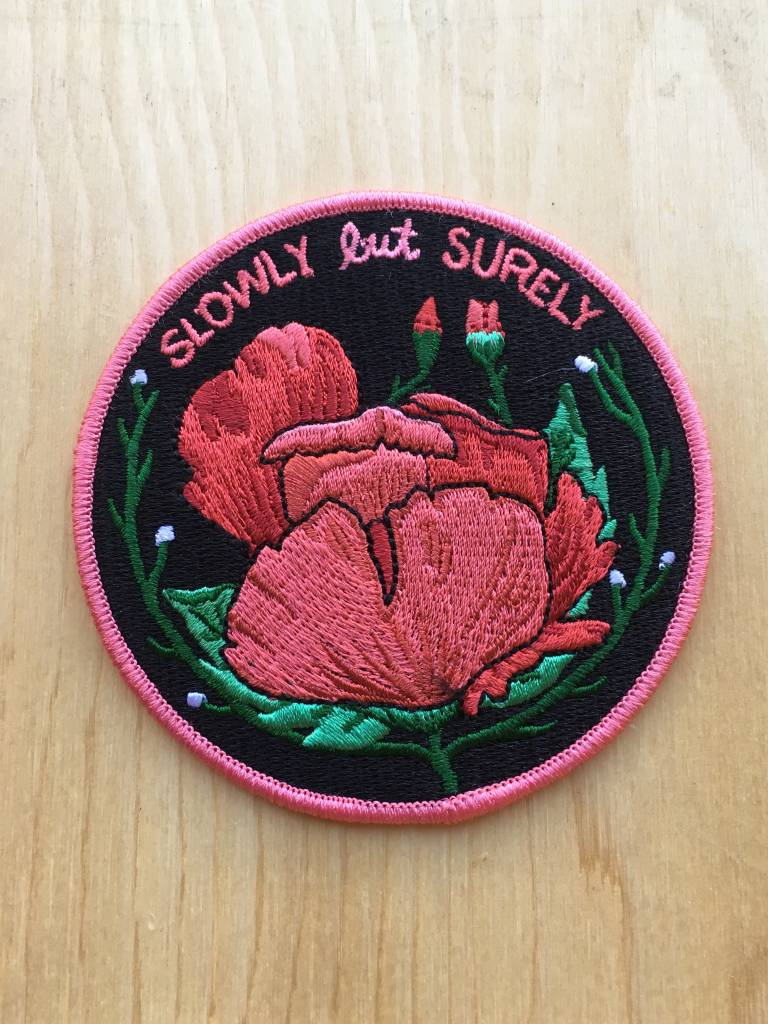 """Stay Home Club Appliqué """"Slowly But Surely"""""""