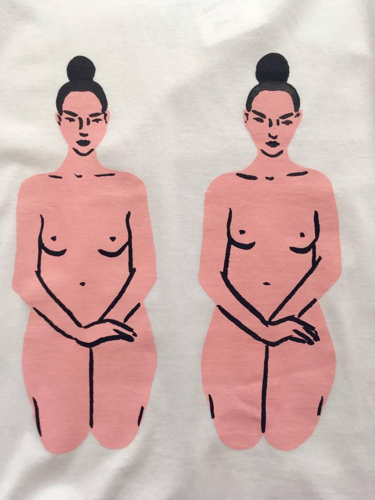Good Day Club Twins by Leah Goren T-shirt