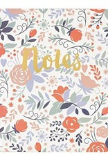 White Floral Notes Journal