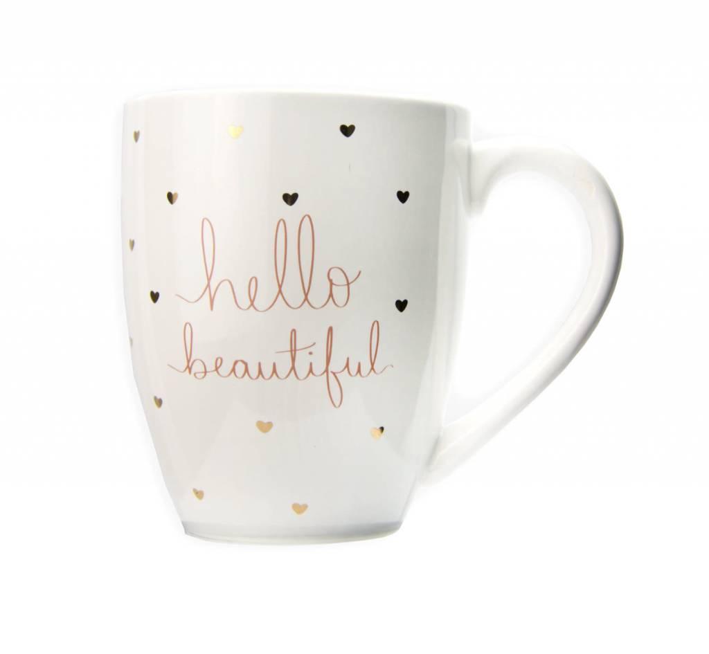 Hello Beautiful Heart Mug