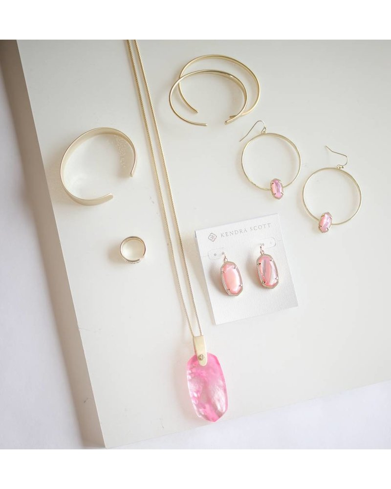 Inez Necklace- Gold Blush MOP