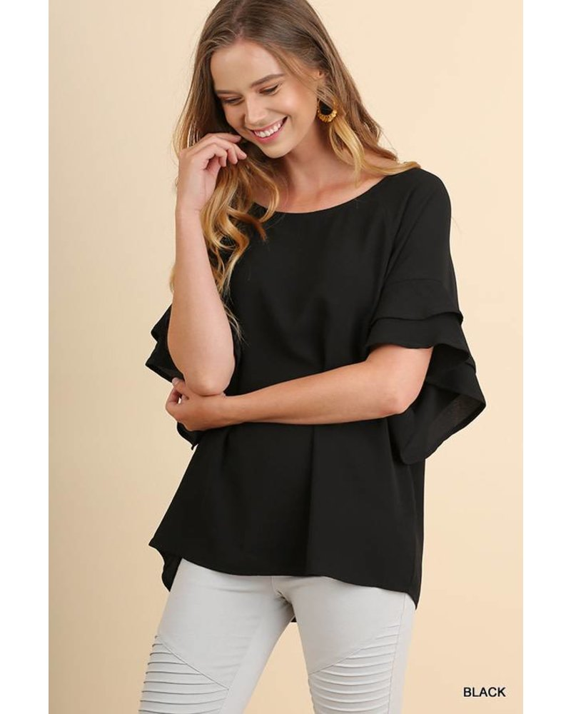 Camila Ruffle Sleeve Top