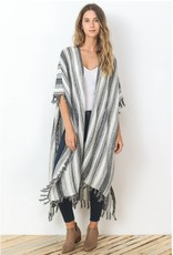 Meagan Striped Poncho