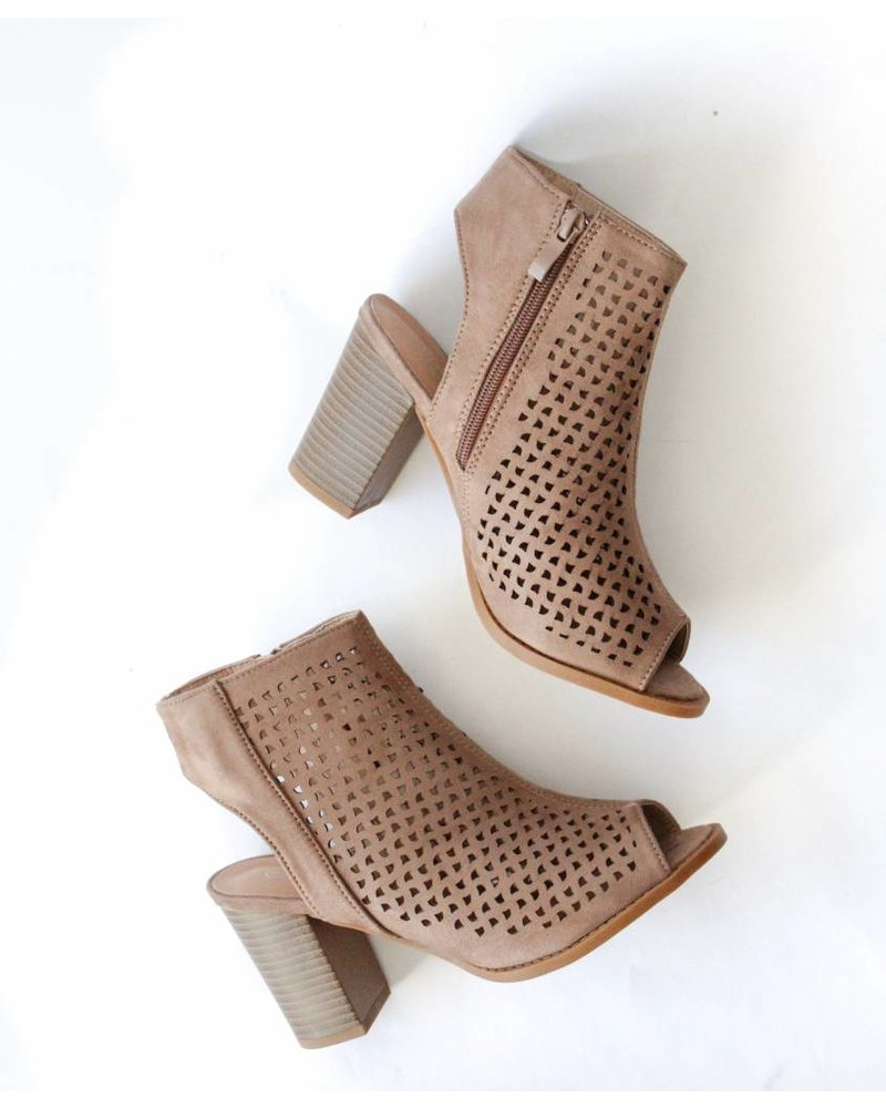 Canal Open Toe Booties