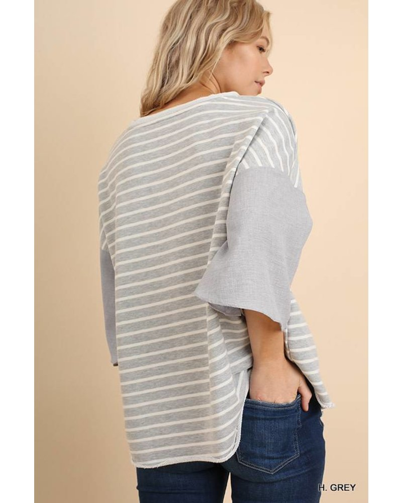 Lily Contrast Sleeve Top