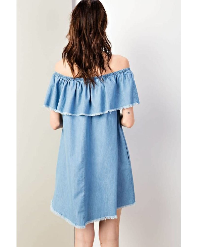 Eden Distressed Denim Dress