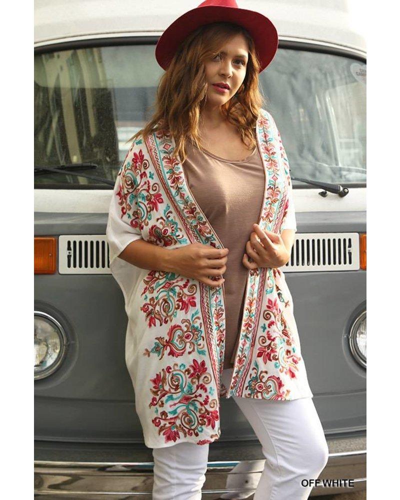 Darla Embroidered Kimono